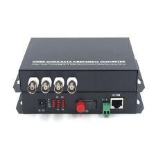 Premium 4CH Video Ethernet over Fiber optic media converters FC for Camera CCTV