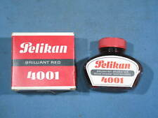 Vintage Pelikan 4001 Brilliant Red Fountain Pen Ink in Box Made in Germany