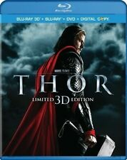 THOR 3D + BLU-RAY/DVD + SLIPCOVER; RARE OUT OF PRINT LIMITED EDITION; 3-Disc set