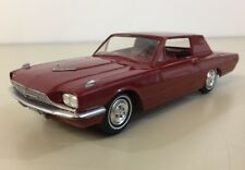 1966 Ford Thunderbird Promo Model Vintage Burgundy Hard Top 1:25 Scale Roller