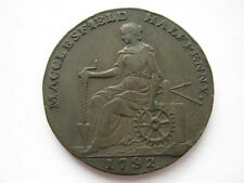 Cheshire Macclesfield Halfpenny Token 1792 DH57