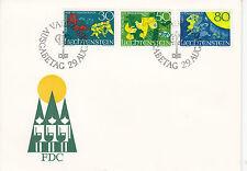 Liechtenstein FDC Ersttagsbrief 1968 Sagen Mi.497-99