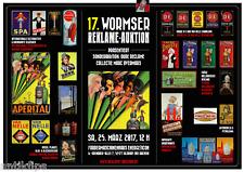 """Auktionskatalog 17. Wormser Reklame - Auktion """"Collectie Marv Overmars"""" 25.03.17"""