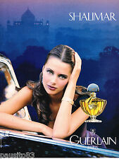 PUBLICITE ADVERTISING 055  1994  GUERLAIN  parfum SHALIMAR 4 (sans texte)