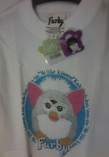 FURBY 90's TOY PRINTED T-SHIRT  SIZE 3, 5, 7, WHITE NWT