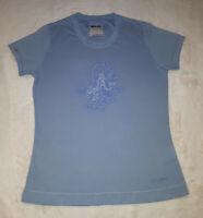 Berghaus Karma Buddha T-Shirt Ladies UK 10 Blue Enlightenment Tranquility RARE