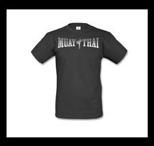 Muay Thai camisa talla M negro plata kickboxing MMA boxeo Fighting Fitness