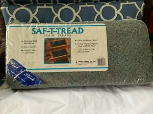 "13 = Step Landing 8"" x 18'' Peel & Stick Staircase Rug Carpet Blue Gray New"