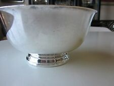 Reed and Barton Silverplate Bowl with Green Enamel Interior