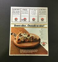 VTG Retro 1982 Pizza Hut Family Special Large Pan Pizza Print Ad Coupon
