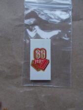 NEW LEGO SPECIAL 60 YEARS BIRTHDAY CELEBRATION TILE 37590 SPARES 2X4 WHITE +GOLD