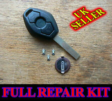 BMW 3 BUTTON Remote Key Fob Case E46 3 5 7 Z3 FULL REPAIR KIT With Battery