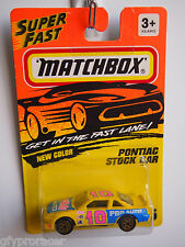 MATCHBOX SUPERFAST #35 PONTIAC STOCK CAR 1993 ISSUE #10 LOGO