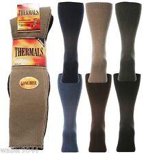 3 Pairs Mens Long Thermal Warm Socks Knee High Shoe 6 - 11 Mixed Colours