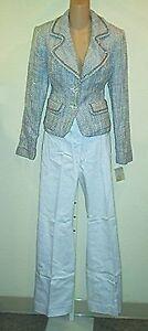 Bloomingdales New $298   Cotton Blends Jacket & Pants  Outfit  sz 8/10