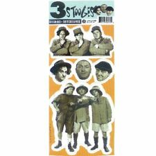 """Three Stooges Sticker Sheet Rare Out Of Print 4"""" x 8"""" Scrapbooking Collectable"""