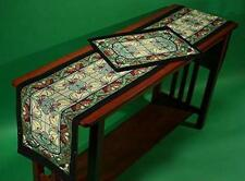 Arts and Crafts Table Runner Thistle and Rosebud by Rennie and Rose