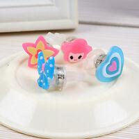 10* Kids Cartoon LED Flashing Glowing Finger Ring Christmas Baby Toys Game Gifts