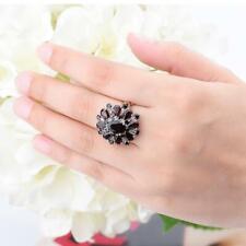 Natural Black Garnet Rings