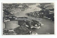 tq0986 - Aerial View ot the Winding River Dart, through Dartmouth - postcard