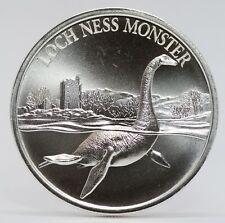 Loch Ness Monster Nessie Scotland 1 oz Silver 999 Round Cryptozoology - JJ033