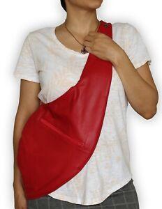 New VIKTOR SABO Exclusive Canadian Handmade  Lambskin Shoulder Bag RED Medium