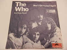 THE  WHO  45T  YOUGOSLAVE    WON'T  GET  FOOLED  AGAIN