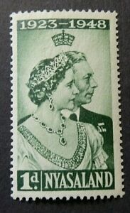 NYASALAND 1948 SG161 KGVI 1d. ROYAL SILVER WEDDING  -  MNH