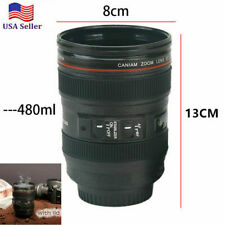 New Canon Caniam Coffee Mug Camera Zoom Lens Cup Tea Milk Travel Thermos Gift US