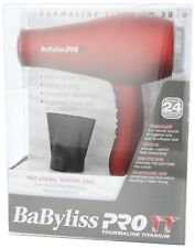 Babyliss Pro BABTT5585 Tourmaline Titanium 3000 Hair Dryer, Blower Red, 1900 W