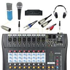 8 Channel Digtal Mic Line Audio Mixing Mixer Console with 48V Phantom Power T5W4