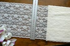 Polyester IVORY Floral Lace 3.6 Metre Length Extra Wide 200mm Wide Flt1