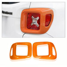 For 2015 - 2018 Jeep Renegade ABS Orange Tail Lamp Cover Rear light Frame Trim