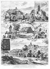 Oberpfalz, Kastl, Pfaffenhofen, Hillohe Sammelblatt, Original-Holzstich von 1891