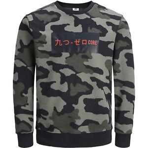Jack Jones Herren Pullover Hoodie Sweat T Shirt Camouflage Männer Marken WOW #32