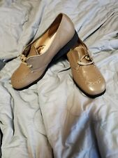 Vintage Montgomery Ward Womens flat style Shoes Pumps Size 9D deer skin leather