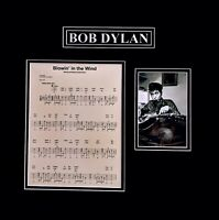 Bob Dylan Original Autographed Photograph Signed With Gold Pen
