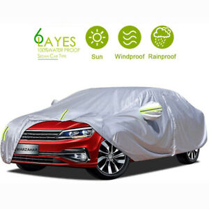 Waterproof Full Car Sedan Cover Outdoor UV Snow Dust Rain Resistant Protection