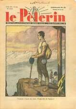 Vacances Alpinistes Cimes des Alpes France Italia Italy Suisse 1937 ILLUSTRATION