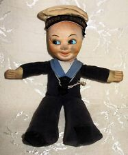 """Nora Wellings Cloth Sailor Doll 1940's - 1950's """"Empress of England"""" Cruise Ship"""