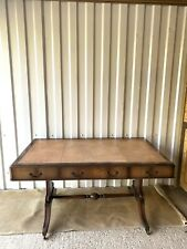 Regency Library Table Antique Mahogany  Desk with leather top *GREAT CONDITION*
