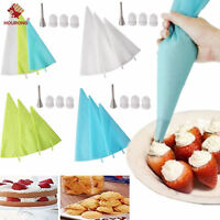 Silicone Icing Cream Piping Pastry Bag Nozzle Coupler Set Cake Decorating Tools