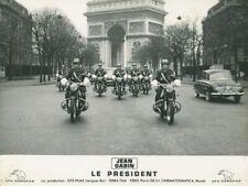 JEAN GABIN LE PRESIDENT 1961 PHOTO ORIGINAL #12 ARC DE TRIOMPHE CHAMPS ELYSEES