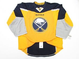 BUFFALO SABRES AUTHENTIC THIRD TEAM ISSUED REEBOK EDGE 2.0 7287 JERSEY SIZE 56