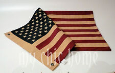 Vintage American Flag Double Sided Cotton with Stripes and Embroidered Stars