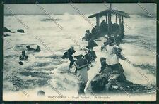 Livorno Quercianella PIEGHINA cartolina QQ3744