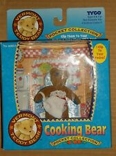 "1995 TYCO VERMONT TEDDY BEAR POCKET COLLECTION ""COOKING BEAR"" NEW!"