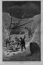 CALIFORNIA 1884 RESCUE OF A FAMILY BURIED UNDER AN AVALANCHE IN WOODFORD'S CANON
