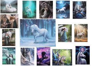 New Unicorn Canvas Picture Print Wall Art Plaque Fantasy Decor Owl Gothic Dragon