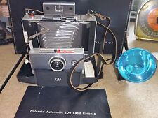 Polaroid 100 Automatic Land Camera w/ Original Case, Flash, Instructions
